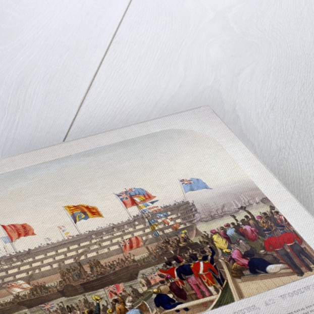 Launch of HMS 'Royal Albert', Woolwich Royal Dockyard, Kent by
