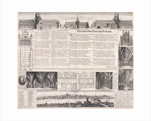 Plans of St Paul's Cathedral, London by Daniel King