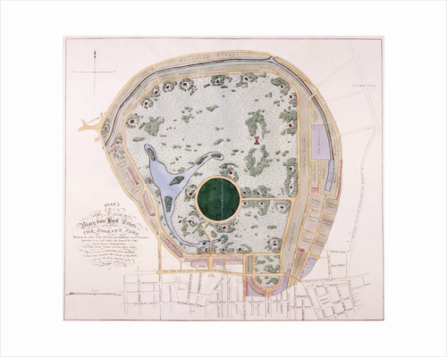 Plan of Regent's Park, London by Anonymous