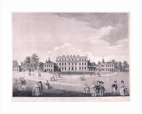 East front of Buckingham House, Westminster, London by James Miller