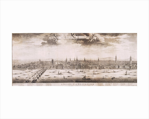 Westminster, London by Wenceslaus Hollar