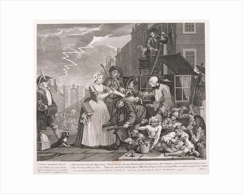 A Rake's Progress; plate IV of VIII by William Hogarth