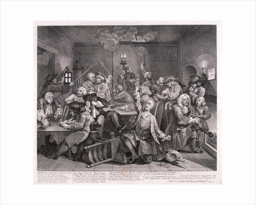 A Rake's Progress; plate VI of VIII by William Hogarth