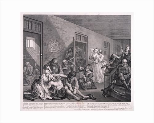A Rake's Progress; plate VIII of VIII by William Hogarth