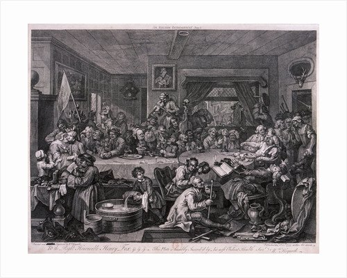 An election entertainment, plate I of The Election by William Hogarth