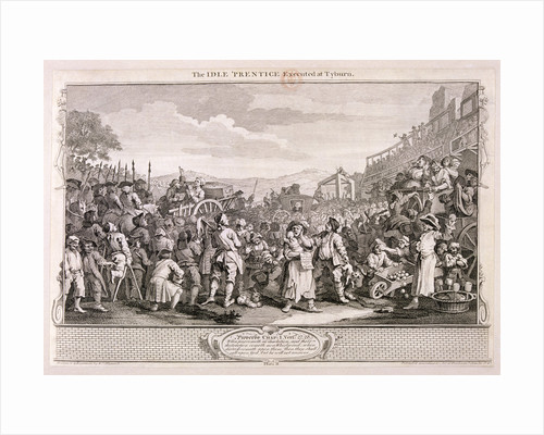 The idle 'prentice executed at Tyburn', plate XI of Industry and Idleness by William Hogarth