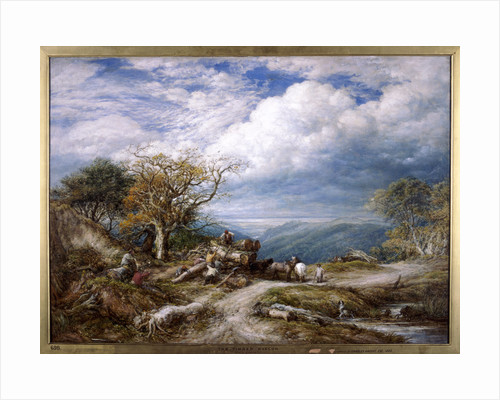 The timber waggon by John Linnell