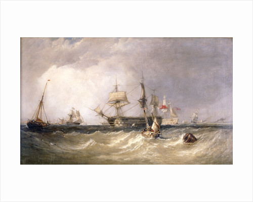 Men-of-War off Portsmouth, Hampshire by Clarkson Stanfield