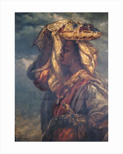 Black Girl with Fruit by Sir John Gilbert