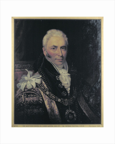 Sir Matthew Wood, Lord Mayor 1815-1817 by Anonymous