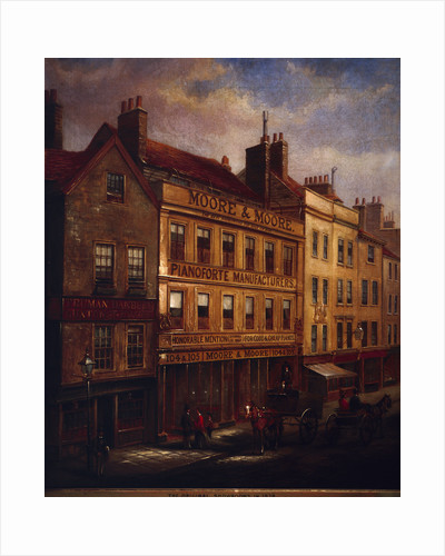 Bishopsgate, London, in 1871 by Walter Riddle
