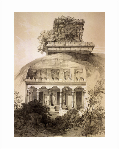 Cave with Structural Vimana, Mahavellipore by