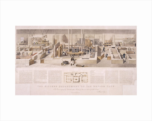 Reform Club's kitchens, Westminster, London by John Tarring
