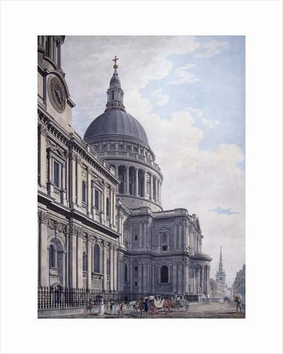 South side of St Paul's Cathedral, London by James Malton