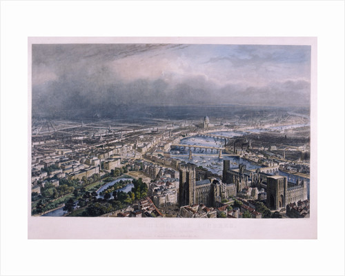 View of London from Westminster by Johann Thomas Kraus