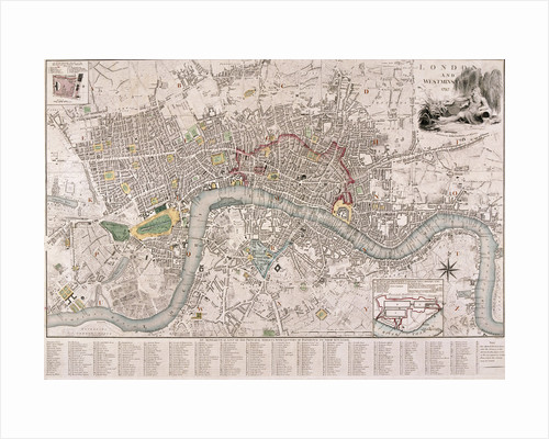 Map of London by C Inselin