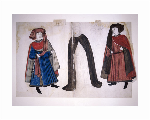 Medieval figures by Anonymous
