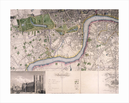Map of City of London, Westminster and Southwark by James Neele
