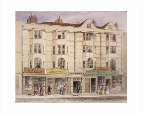 Aldersgate Street, London, (1851?) by Thomas Hosmer Shepherd
