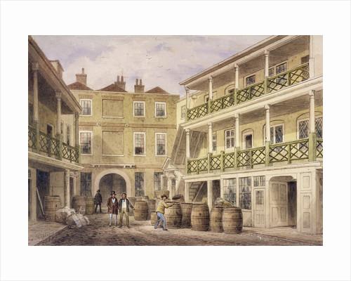 Bell Inn, Aldersgate Street, London by Thomas Hosmer Shepherd