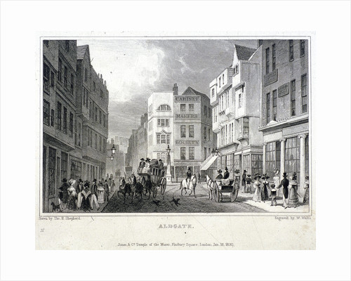 Aldgate, London by W Wallis