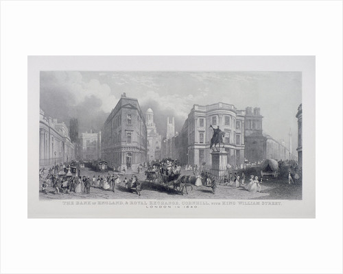 Bank of England, Threadneedle Street, London, (1840?) by Henry Wallis