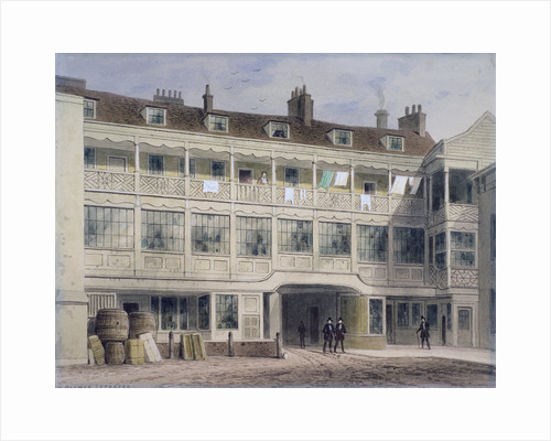 Belle Sauvage Yard, Ludgate Hill, London by Thomas Hosmer Shepherd