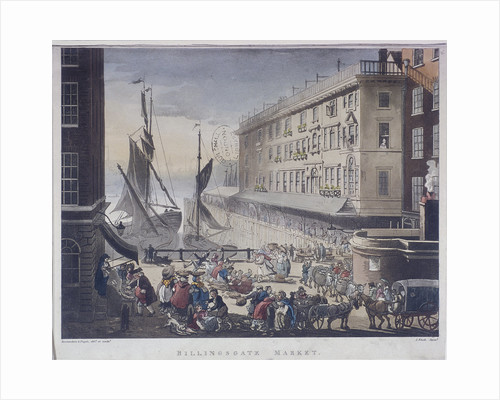 Billingsgate Market and Wharf, London by Anonymous