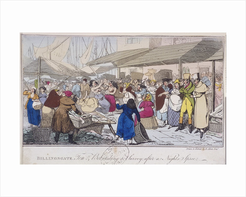 Billingsgate: Tom and Bob taking a survey after a nights' spree, London by J Woods