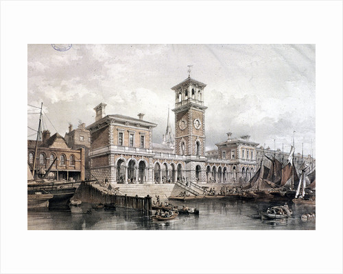 Billingsgate Wharf and Market, London by William Capon