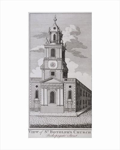 St Botolph without Bishopsgate, London by J Hinchcliff