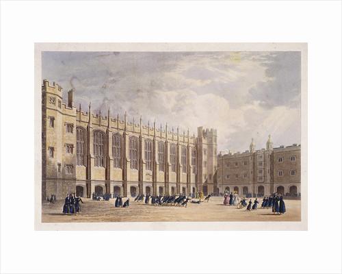 Christ's Hospital, London, c1825 by Hablot Knight Browne