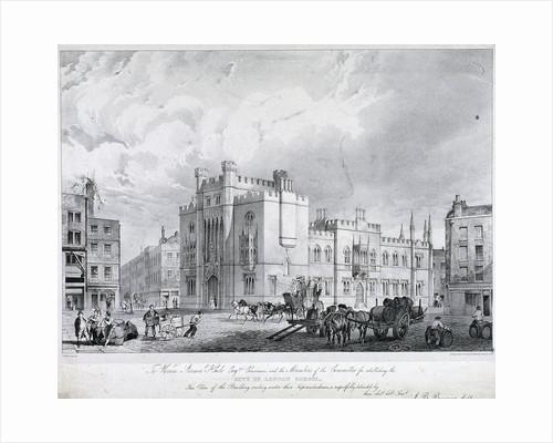 City of London School, London, 1835 by J Woods