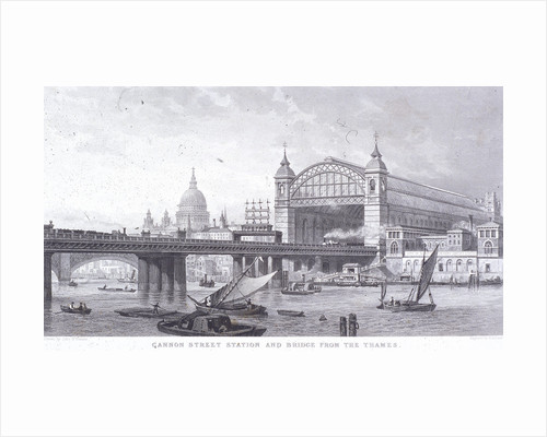 Cannon Street Station, London by John Chessell Buckler