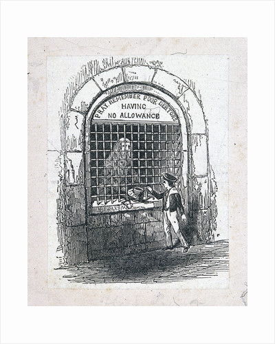 Fleet Prison, London by Eugène Delacroix