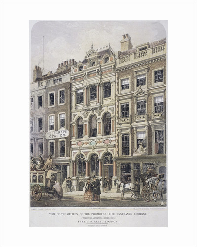 Fleet Street, London by Robert Dudley