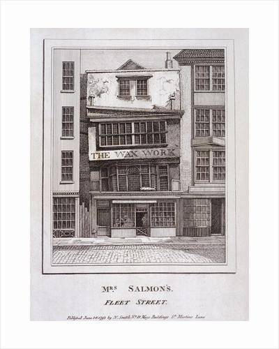 Mrs Salmon's Waxworks in Fleet Street, London by Robert Dudley
