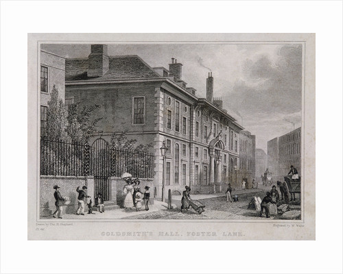 Goldsmiths' Hall, London by Charles Joseph Hullmandel