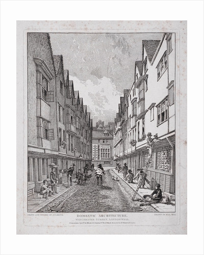 Great Winchester Street, London by John Thomas Smith