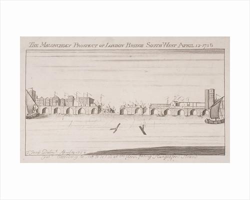 London Bridge (old), London, 1758 by Anonymous