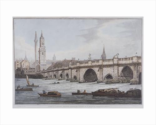 London Bridge (old), London by Joseph Constantine Stadler