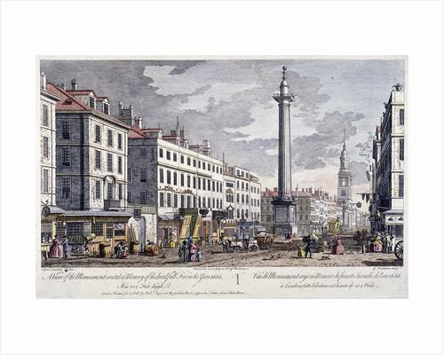 Monument, London by George Bickham