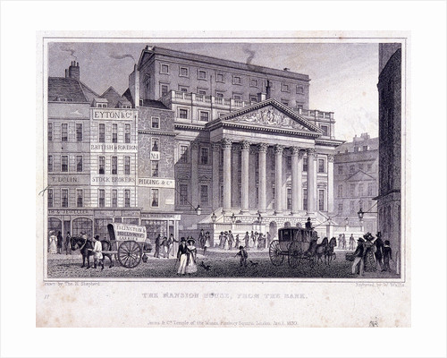 Mansion House (exterior), London by W Wallis