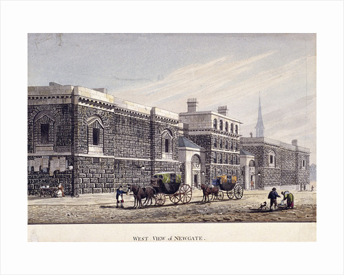 Newgate Prison, Old Bailey, London by George Shepherd