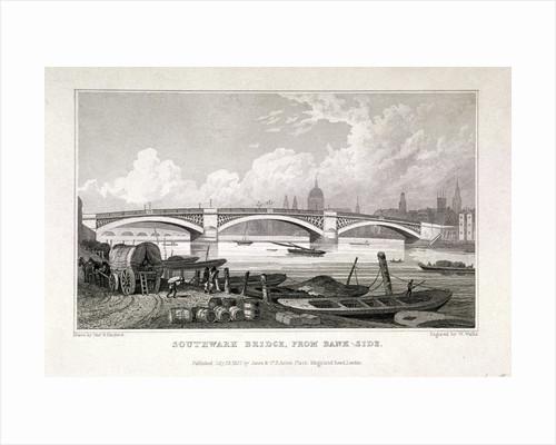 Southwark Bridge, London by W Wallis