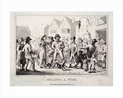 A wife being sold at Smithfield Market, London by Anonymous