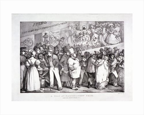 Bartholomew Fair, West Smithfield, London by J Graf
