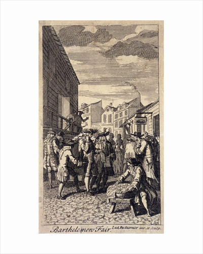 Bartholomew Fair, London by Louis du Guernier