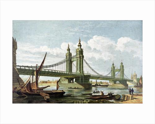 Chelsea Bridge, London by Anonymous