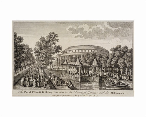 The Chinese Building and Rotunda in Ranelagh Gardens, Chelsea, London by James Cole